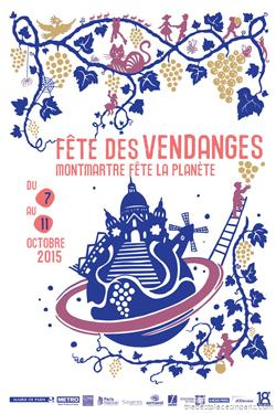 logo montmartre grape harvest festival 2015