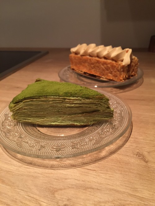 matcha tea pastries osmanthe