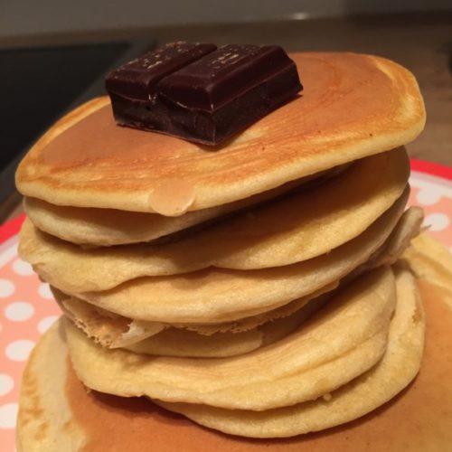 recette pancakes chocolat sans lactose