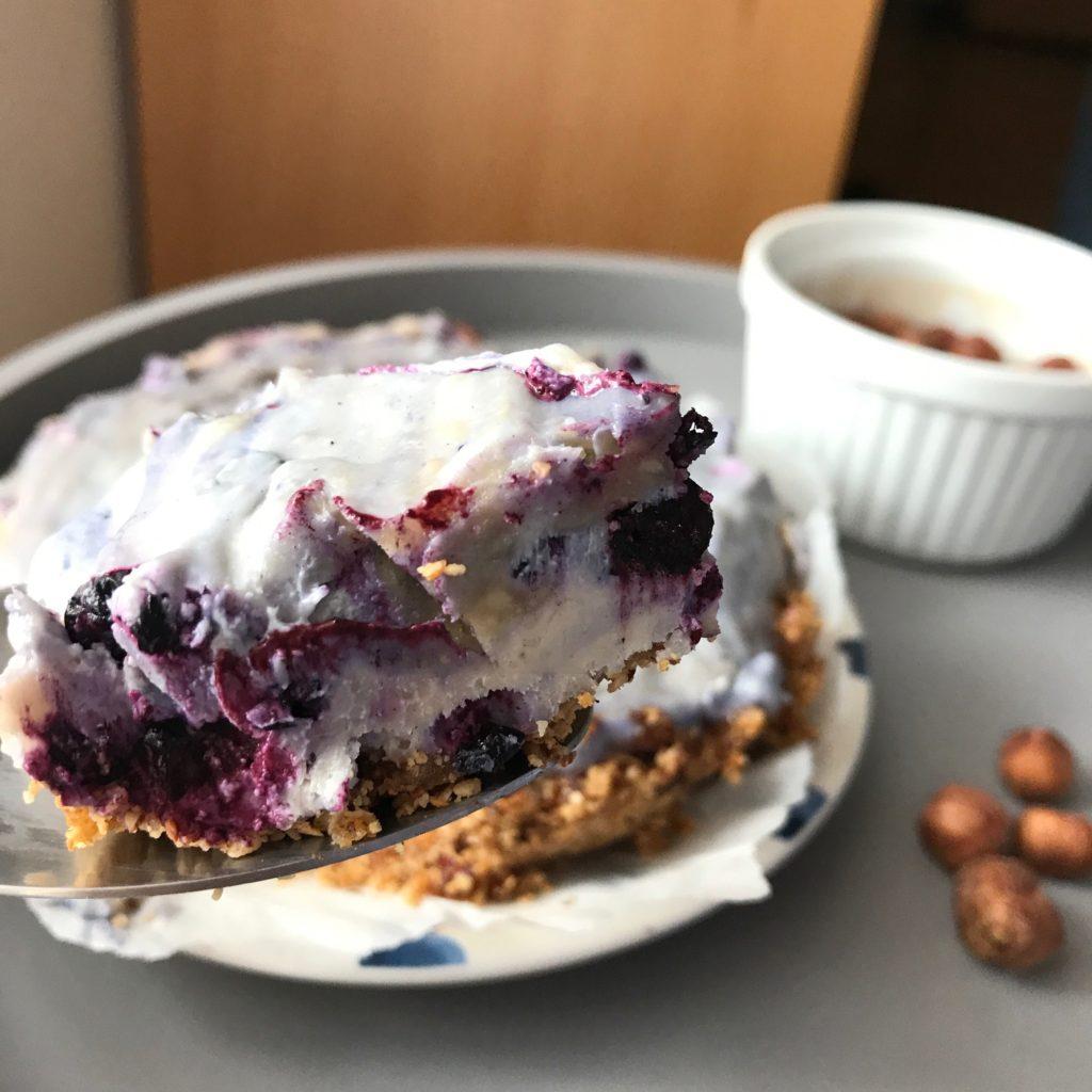 cheesecake vegan aux myrtilles